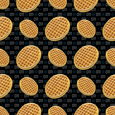 Waffles fabric by tabpin on Spoonflower - custom fabric