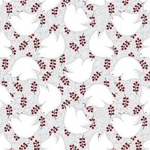 Swirly Birds & Berries