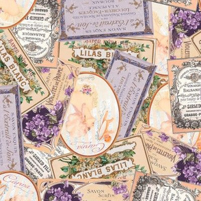 Vintage Labels in Purple + Peach