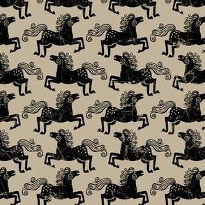 rustic horses beige