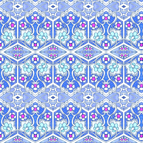 Art Nouveau on the Flowery Go fabric by edsel2084 on Spoonflower - custom fabric