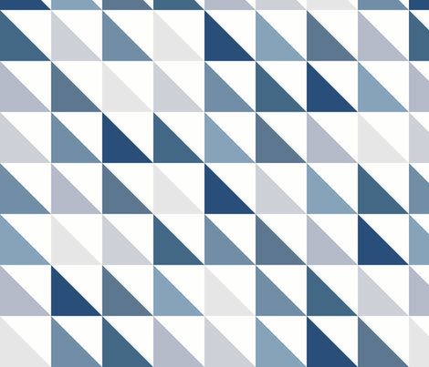 Angled Blue fabric by littlerhodydesign on Spoonflower - custom fabric