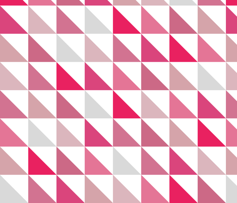 Angled Pink fabric by littlerhodydesign on Spoonflower - custom fabric