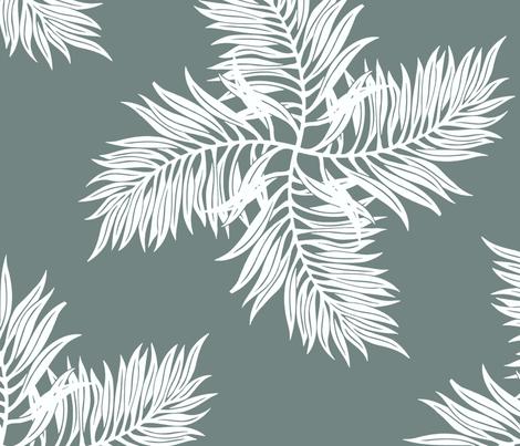 Botanica Gray fabric by littlerhodydesign on Spoonflower - custom fabric
