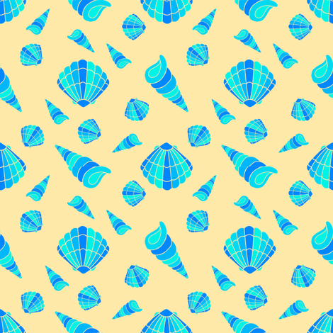#SAGE - WOD - Sea Shells fabric by karwilbedesigns on Spoonflower - custom fabric
