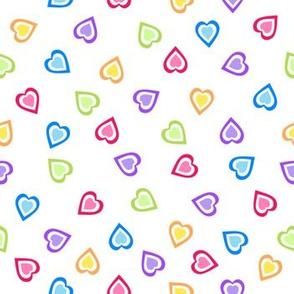 Hearts of many colours