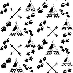 BEAR_DEER_Coordinating_Tribal Print-BLACK_FINAL