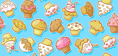 Muffin & Cupcake Party Blue