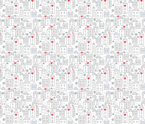 houses pattern  fabric by kostolom3000 on Spoonflower - custom fabric