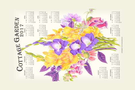 2017CalendarTeaTowel fabric by blairfully_made on Spoonflower - custom fabric