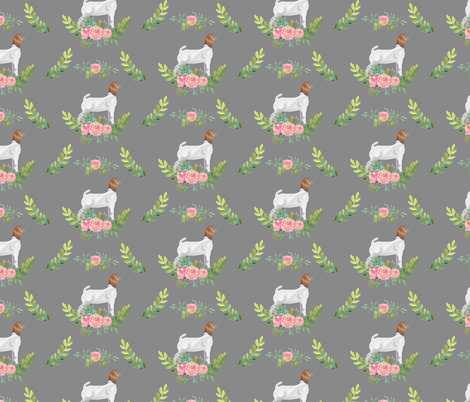 Showstock & Roses - Goats *NEW SMALLER REPEAT fabric by thecraftyblackbird on Spoonflower - custom fabric