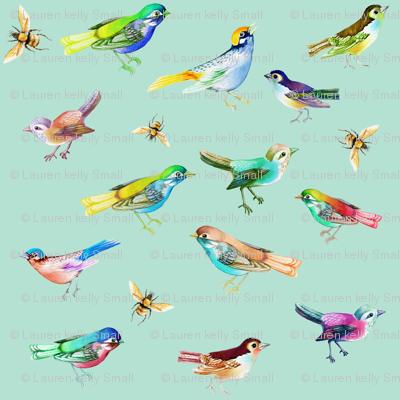 Songbirds Mixed Seafoam