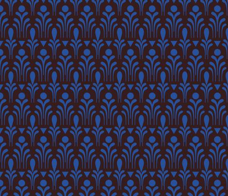 Deco Fleur (night) fabric by seesawboomerang on Spoonflower - custom fabric