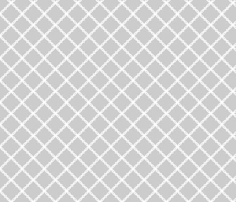 Alabama Grey Trellis fabric by rickrackscissorsstudio on Spoonflower - custom fabric
