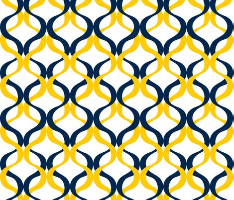 Michigan Wave fabric by rickrackscissorsstudio on Spoonflower - custom fabric