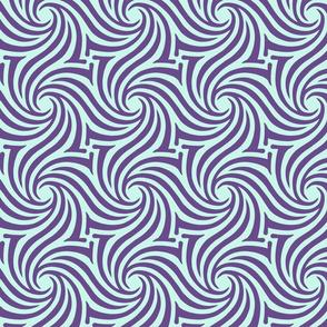 Zebra Tiles Lila Jade aqua