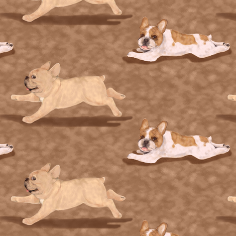 Paint me like two French Bulldogs fabric by eclectic_house on Spoonflower - custom fabric