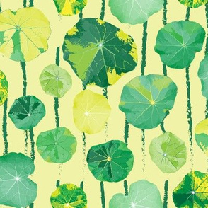 Lilypad Lily Pad Leaves Spring Summer Green Nasturtium SMALL_Miss Chiff Designs