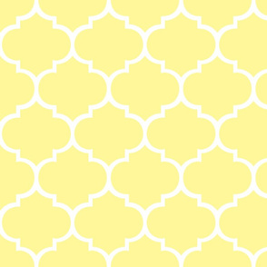 Fancy Lattice White on Yellow - CUSTOM
