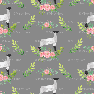 Showstock & Roses - Lamb  *NEW SMALLER REPEAT