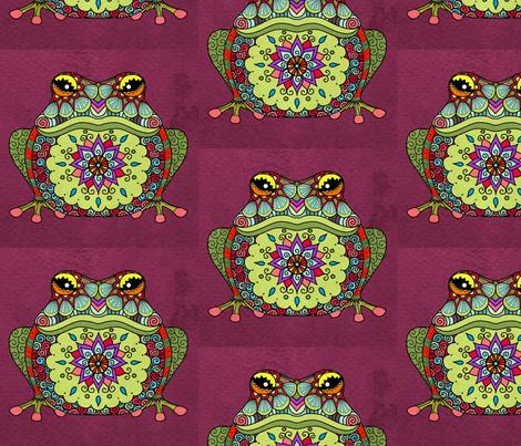 Jewel Frog fabric by floramoon on Spoonflower - custom fabric