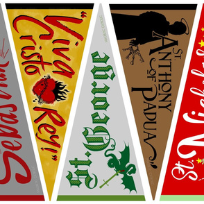 Catholic Saints Banners Males 3