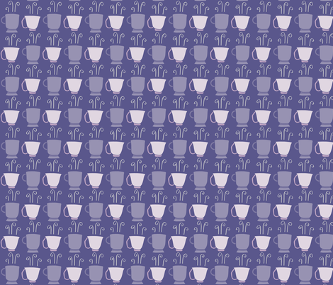 Steaming Teacups fabric by kelly_korver on Spoonflower - custom fabric