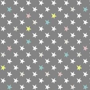 Stars - Sterne - grau bunt