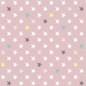 Stars - Sterne - hellrosa bunt