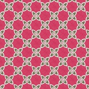 Flowers - geometrische Blumen - rot