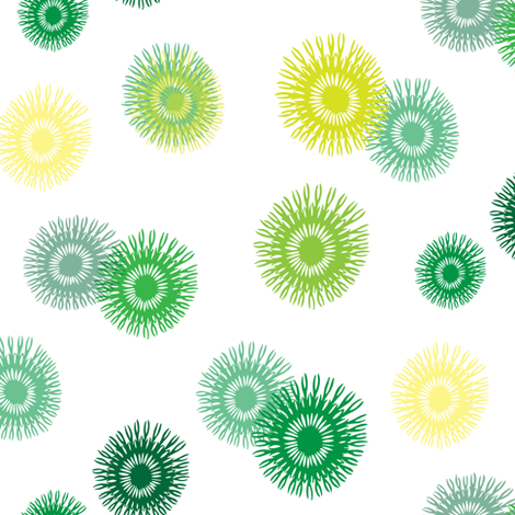 Spring Green abstract floral_Miss Chiff Designs fabric by misschiffdesigns on Spoonflower - custom fabric
