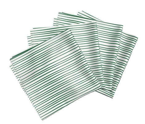 Emerald  green modern stripe on White_Miss Chiff Designs