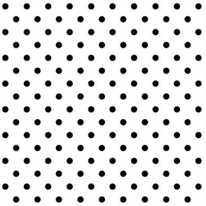 halloween » dotty black on white - monochrome - black and white
