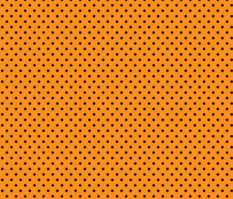 halloween » dotty black on orange fabric by misstiina on Spoonflower - custom fabric