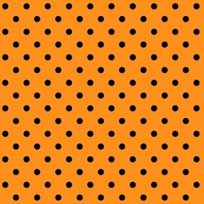 halloween » dotty black on orange