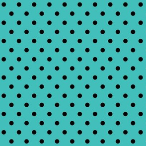 halloween » dotty black on teal blue