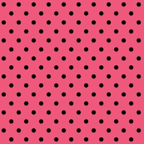 halloween » dotty black on hot pink