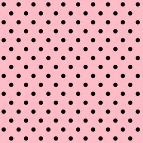 halloween » dotty black on light baby pink