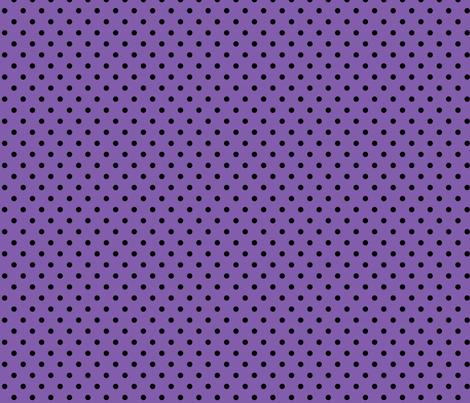 halloween » dotty black on purple fabric by misstiina on Spoonflower - custom fabric