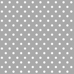 halloween » dotty white on light slate grey - monochrome