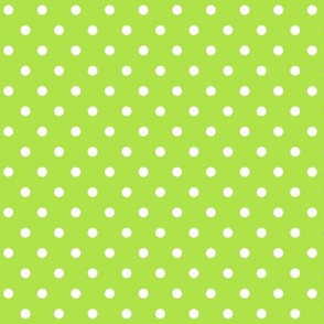 halloween » dotty white on lime green