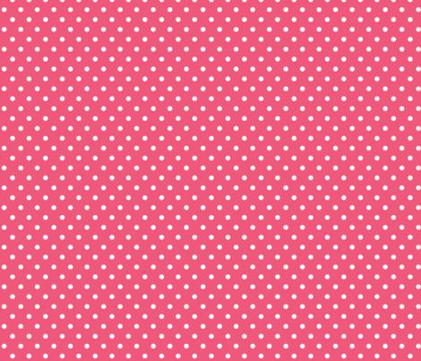 halloween » dotty white on hot pink fabric by misstiina on Spoonflower - custom fabric