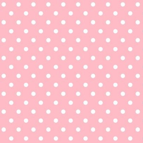 halloween » dotty white on light baby pink