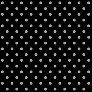 halloween » dotty light slate grey on black - monochrome