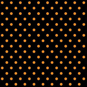 halloween » dotty orange on black