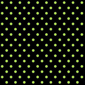 halloween » dotty lime green on black