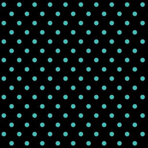 halloween » dotty teal blue on black