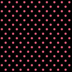 halloween » dotty hot pink on black