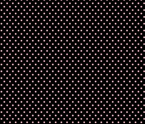 halloween » dotty light baby pink on black fabric by misstiina on Spoonflower - custom fabric