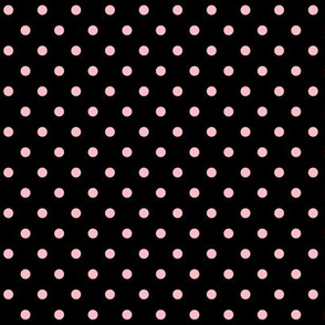 halloween » dotty light baby pink on black